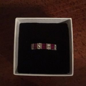 Kay Jewelers Ruby & Diamond Ring Sz 6